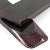 Micarta skalor 10 mm - Red / Olive