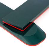 Micarta skalor 10 mm - Grön med röd liner