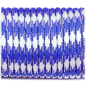 Paracord 550 - Navy Blue White