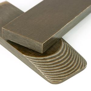 Micarta skalor 10 mm - Forest Camo