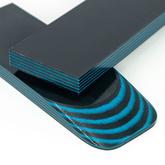 Micarta skalor 9 mm - Blå / Svart