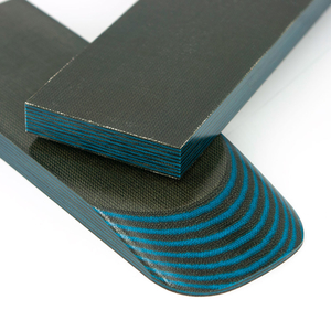 Micarta skalor 9 mm - Blå / Grön