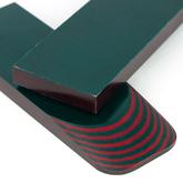 Micarta skalor 9 mm - Röd / Grön