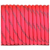 Paracord 550 - Reflective Neon Pink