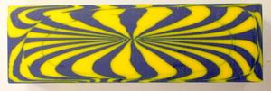 Polyester Blå/Gul