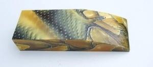 Akryl block gul/svart