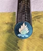 Mosaikpin Eld 8 mm - Kolfiber