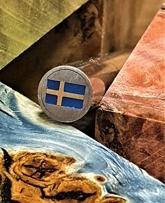 Mosaikpin Svenska flaggan 8 mm - Rostfritt
