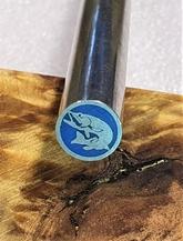 Mosaikpin Fisk Blå 8 mm - Rostfritt