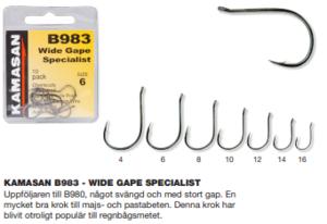 Kamasan B983 - Wide Gape Specialist