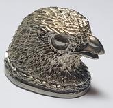 Fågelhuvud - nysilver