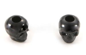 Skull bead Black