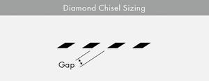 Hålgaffel diamant 2 hål - 2 mm
