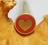 Mosaikpin Hjärta 8 mm - Mässing