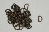 D-ring 10 mm - Antik mässing