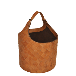 Basket Leather Kettle Natural