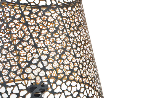 Lampshade Golden Black S