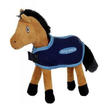 Hestebamse Funny Horse med fleecedekken
