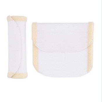 Bandasjeplater med imitert lammeskinn 2 stk