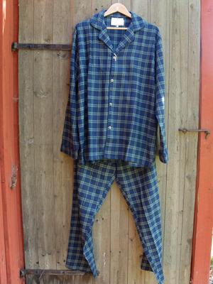 Pyjamas/Flanell/Blå/Grön-Rutig