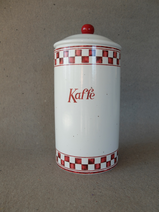 Kaffeburk /Röd & Vit-rutig bård