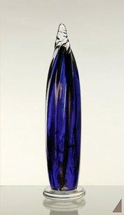 Snäckskulptur blå-hög