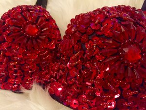 Crystal Bra - Red
