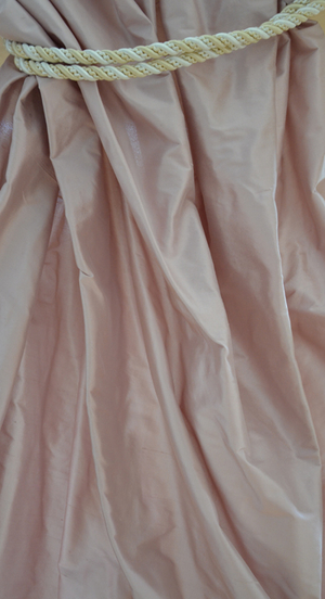 1034 Antique rose shantung silk