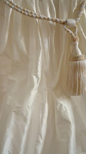 1031 Creme white shantung silk