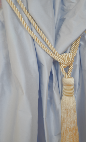 1038 Misty blue shantung silk