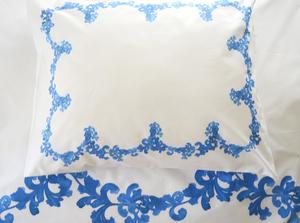 6031 Aquarelle Astral blue pilloecase 50x 60cm