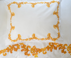 6041 Aquarelle-Tupelo honey pillowcase 50x60 cm