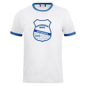 T-shirt Nome Grunden BOIS, vit/blå