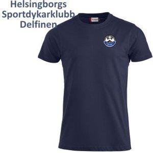 T-shirt Premium Delfinen, herr