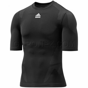 Kompressionströja Adidas Techfit Prepare, kort ärm, herr, svart, P92367