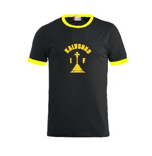 T-shirt Kalvsund IF Retro svart/gul