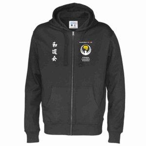 Hood Full Zip Cottover Samurai Dojo, herr & dam, svart