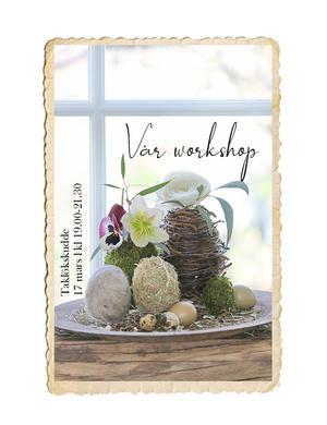 Workshop, Taklökskudde, 17 mars