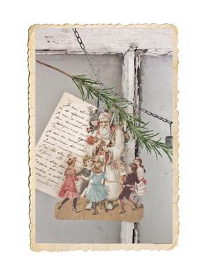 Bokmärken med jultomtar och barn