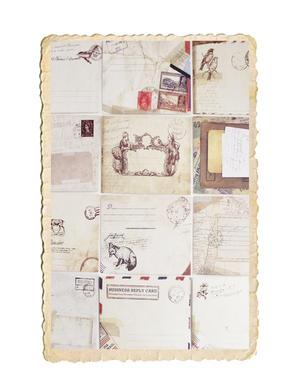 Set med fina mini kuvert i vintage stil