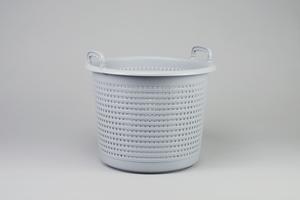 Plastic Basket, 44 Liter, Grey