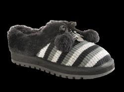 Skechers sköna innesko (toffel) svart/grå