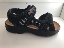 Sandal med mjuk. skön skinn-innersula, svart. Storlekar 36-41