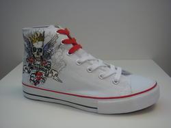 Tuffa sneakers med skaft, vita