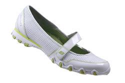 Skechers ballerina vit/lime