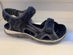 Kvalitets-Sandal,  ALLROUNDER.  Jätteskön med uppbygd innersula, blå/grå.