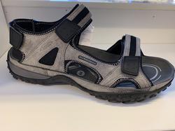 Superskön herr-sandal  ALLROUNDER. Uppbygd innersula. Grå/svart.