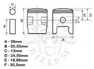 Piston kit Z50 6v