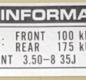 "Dekal kedjeskydd ""Tire information"""