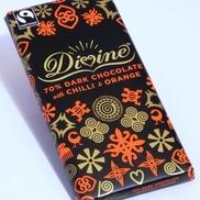 Divine dark chocolate with chilli & orange 100g